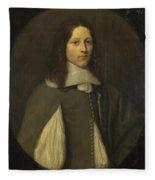 Portrait Of A Young Man In Grey Fleece Blanket