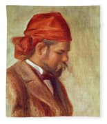 Portrait Of Ambroise Vollard 1868-1939 Oil On Panel Fleece Blanket