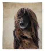 Portrait Of An Afghan Hound Fleece Blanket