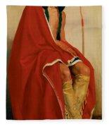 Elk Foot Of The Taos Tribe Fleece Blanket