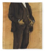 Portrait Of Arcadi Mas I Fondevila Fleece Blanket