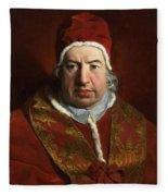 Portrait Of Benedict Xiv Fleece Blanket