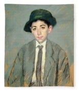 Portrait Of Charles Dikran Kelekian Fleece Blanket