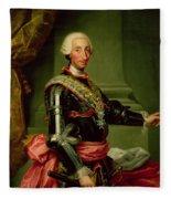 Portrait Of Charles IIi 1716-88 C.1761 Oil On Canvas Fleece Blanket