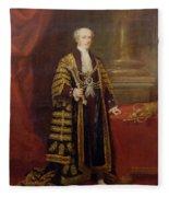 Portrait Of Colonel Sir Samuel Wilson, Lord Mayor Of London, 1838 Oil On Canvas Fleece Blanket
