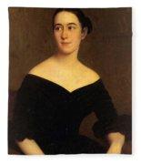 Portrait Of Cornelia Knott Miltenberger Fleece Blanket