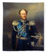 Portrait Of Count Alexander Benkendorff Fleece Blanket