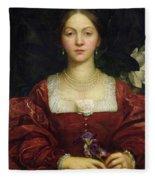 Portrait Of Countess Of Airlie Fleece Blanket
