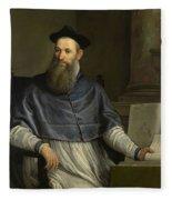 Portrait Of Daniele Barbaro Fleece Blanket