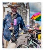 Portrait Of Doctor Luv In New Orleans Fleece Blanket