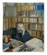 Portrait Of Edmond Duranty, 1879 Fleece Blanket