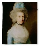 Portrait Of Elizabeth Caldwell Fleece Blanket