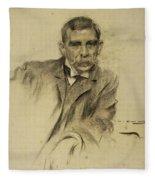 Portrait Of Emili Sala Fleece Blanket
