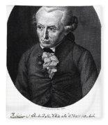 Portrait Of Emmanuel Kant  Fleece Blanket