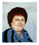 Portrait Of Essie Simon  Fleece Blanket
