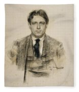 Portrait Of Eugeni D'ors Fleece Blanket