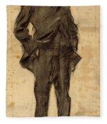 Portrait Of Ezequiel Boixet Fleece Blanket