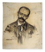 Portrait Of Gabriel Alomar Fleece Blanket