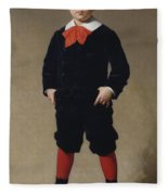 Portrait Of Henri Achille Fleece Blanket