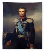 Portrait Of Illarion Vasilyevich Vasilchikov Fleece Blanket