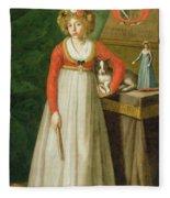 Portrait Of Isidore, 1810 Fleece Blanket