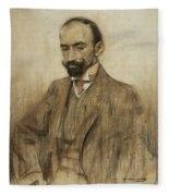 Portrait Of Jacinto Benavente Fleece Blanket