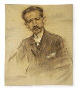 Portrait Of Jacinto Octavio Picon Fleece Blanket