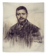 Portrait Of Jaume Carner Fleece Blanket