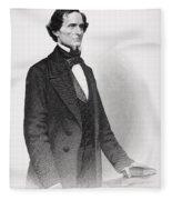 Portrait Of Jefferson Davis Fleece Blanket