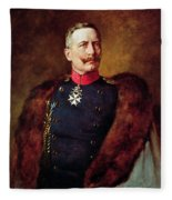 Portrait Of Kaiser Wilhelm II 1859-1941 Fleece Blanket