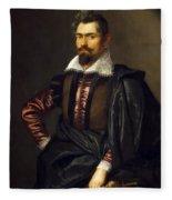 Portrait Of Kaspar Scioppius Fleece Blanket