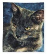 Portrait Of Kiara Fleece Blanket