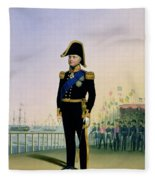 Portrait Of King William Iv Plate 14 Fleece Blanket
