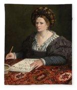 Portrait Of Laura Pisani Fleece Blanket