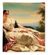 Portrait Of Leonilla Fleece Blanket