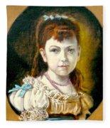 Portrait Of Little Girl Fleece Blanket