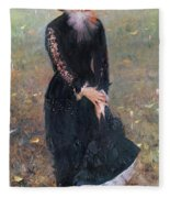 Portrait Of Madame Edouard Pailleron Fleece Blanket