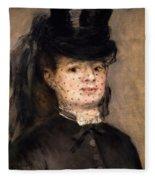 Portrait Of Madame Paul Darras Fleece Blanket