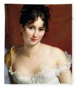 Portrait Of Madame Recamier  Fleece Blanket