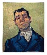 Portrait Of Man Fleece Blanket