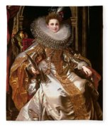 Portrait Of Maria Serra Pallavicino Fleece Blanket