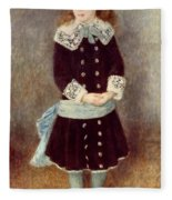 Portrait Of Martha Berard Fleece Blanket