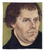 Portrait Of Martin Luther Aged 43 Fleece Blanket
