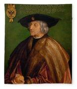Portrait Of Maximilian I Fleece Blanket