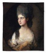 Portrait Of Miss Elizabeth Linley  Later Mrs Richard Brinsley Sheridan Fleece Blanket