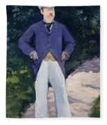 Portrait Of Monsieur Brun Fleece Blanket