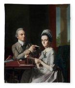 Portrait Of Mr And Mrs Thomas Mifflin Fleece Blanket
