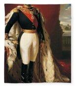 Portrait Of Napoleon IIi Louis Napoleon Bonaparte Fleece Blanket