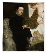 Portrait Of Ottavio Strada Fleece Blanket