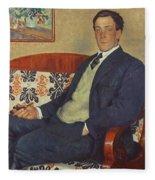 Portrait Of Peter Kapitza 1926 Fleece Blanket